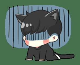 el the black cat sticker #8047114