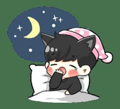el the black cat sticker #8047115