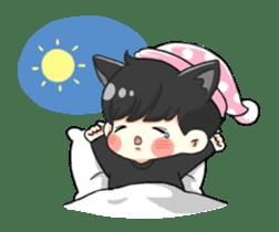 el the black cat sticker #8047116