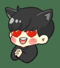 el the black cat sticker #8047117