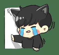 el the black cat sticker #8047119
