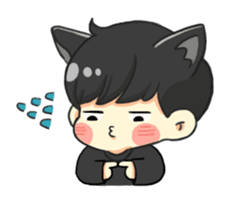el the black cat sticker #8047123