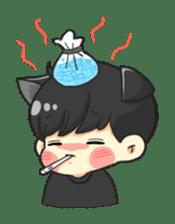 el the black cat sticker #8047125