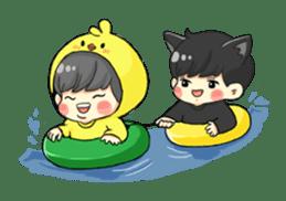 el the black cat sticker #8047126