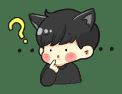 el the black cat sticker #8047129