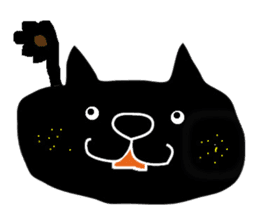 Kurosuke of Black cat sticker #8048454