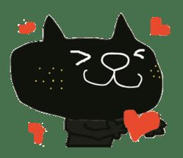 Kurosuke of Black cat sticker #8048463