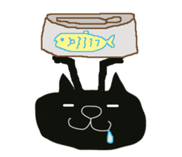 Kurosuke of Black cat sticker #8048473