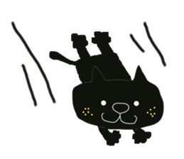 Kurosuke of Black cat sticker #8048480