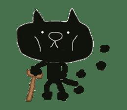 Kurosuke of Black cat sticker #8048486