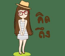 chill girl sticker #8049093