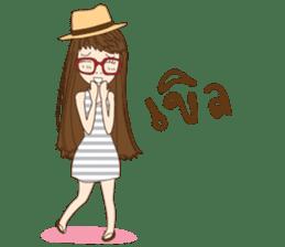 chill girl sticker #8049095