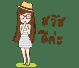chill girl sticker #8049100