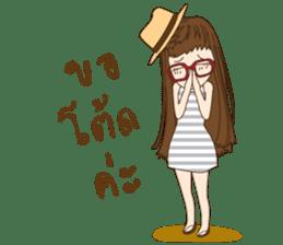 chill girl sticker #8049103