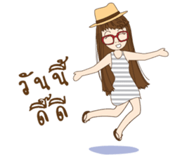 chill girl sticker #8049122