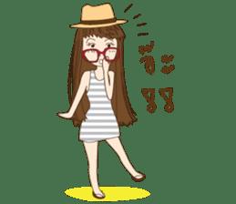 chill girl sticker #8049128