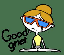 "I love yoga ""Itchan"" Eg.Ver sticker #8050213"