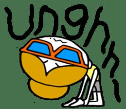 "I love yoga ""Itchan"" Eg.Ver sticker #8050235"