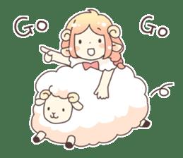 Sheep ear girl Ani and Oskar. sticker #8051726