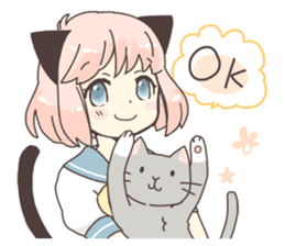 Cat ear girl Necoco part2 sticker #8053293