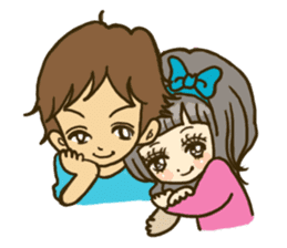 Cute Couples3 sticker #8060430