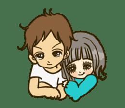 Cute Couples3 sticker #8060433