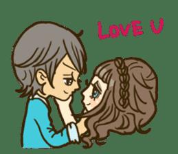 Cute Couples3 sticker #8060440