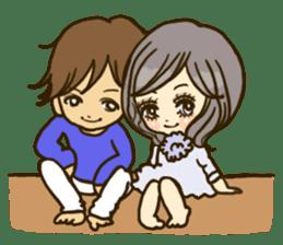 Cute Couples3 sticker #8060445