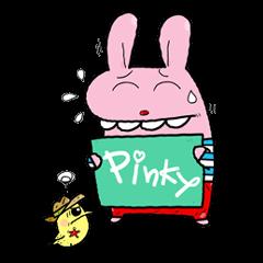 pinky dog happy