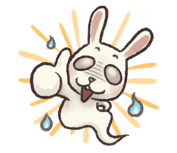 The Ghost Bunny sticker #8066272