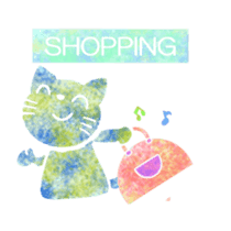Colorful sticker of the spotted design sticker #8070169