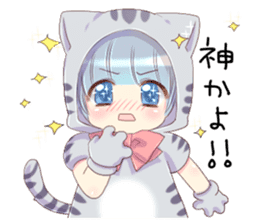 Pretty cat ear boy sticker #8073298