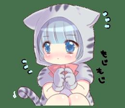 Pretty cat ear boy sticker #8073300