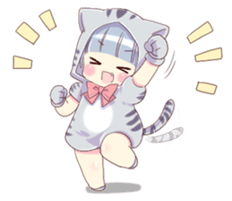 Pretty cat ear boy sticker #8073306