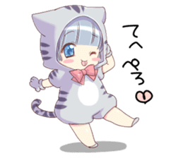 Pretty cat ear boy sticker #8073307
