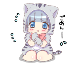 Pretty cat ear boy sticker #8073312