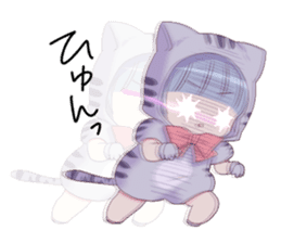 Pretty cat ear boy sticker #8073315