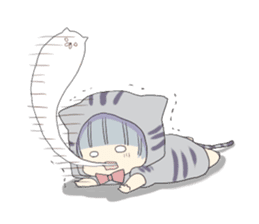 Pretty cat ear boy sticker #8073322