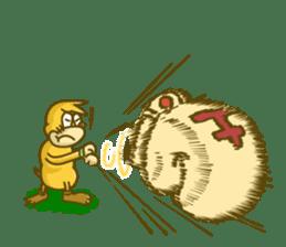 Funny mole sticker #8073943