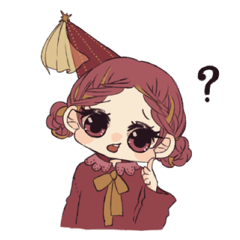 Little witch's sticker