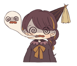 Little witch's sticker sticker #8074090