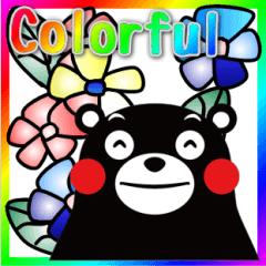 KUMAMON sticker(Colorful English update)
