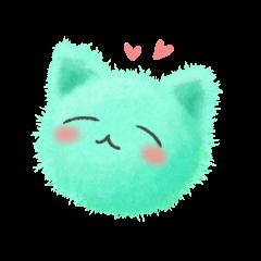 Fluffy balls (3) cat