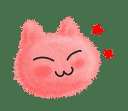 Fluffy balls (3) cat sticker #8075788