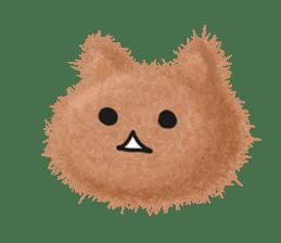 Fluffy balls (3) cat sticker #8075789