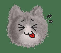 Fluffy balls (3) cat sticker #8075790