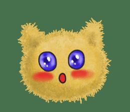 Fluffy balls (3) cat sticker #8075791