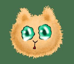 Fluffy balls (3) cat sticker #8075792