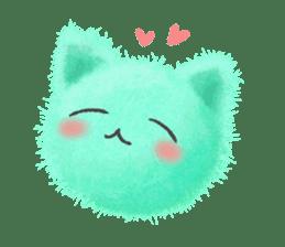 Fluffy balls (3) cat sticker #8075793