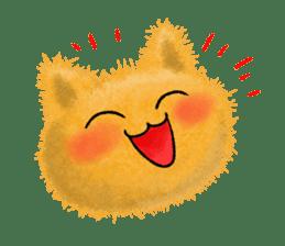 Fluffy balls (3) cat sticker #8075795